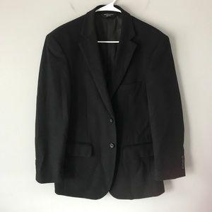 Pronto Uomo men's wool silk cashmere black blazer